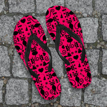 Load image into Gallery viewer, Cats Pink Flip-Flops