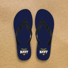 Load image into Gallery viewer, Navy Flip-Flops