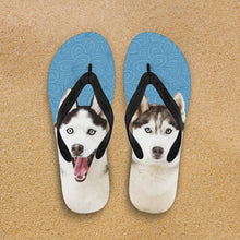 Load image into Gallery viewer, Huskies Flip-Flops