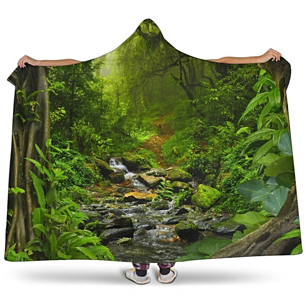 Forest Hooded Blanket