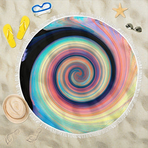 Carpe Noctem 5 Round Beach Towel