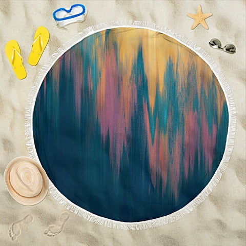 Carpe Noctem 3 Round Beach Blanket