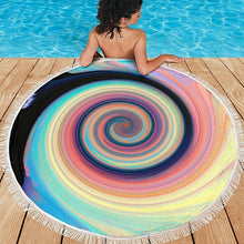 Load image into Gallery viewer, Carpe Noctem 5 Round Beach Towel