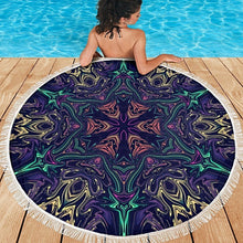 Load image into Gallery viewer, Carpe Noctem  Round Beach Towel