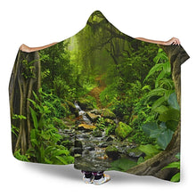 Load image into Gallery viewer, Forest Hooded Blanket
