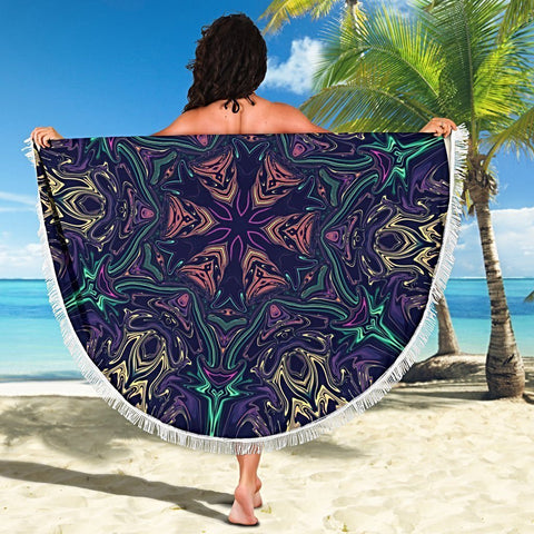 Carpe Noctem  Round Beach Towel