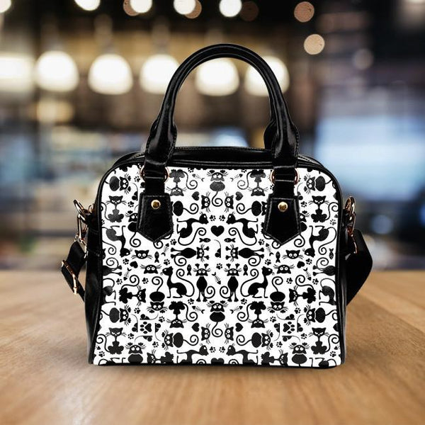 Cats White Handbag
