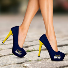 Load image into Gallery viewer, Navy Heels