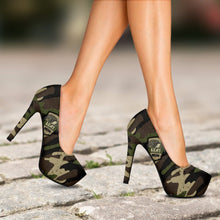 Load image into Gallery viewer, Camouflage Heels