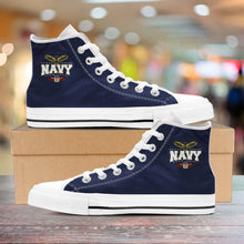 Load image into Gallery viewer, Navy High Tops