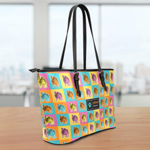 Load image into Gallery viewer, Bulldog Large Leather Tote Bag