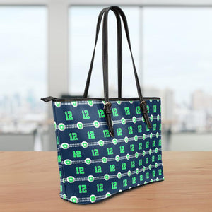 Seattle Nurse Large Leather Tote Bag