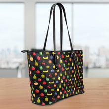 Load image into Gallery viewer, Bitmap Fruit Large Leather Tote