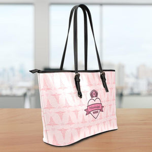 MS Nurse Pink Large Leather Tote Bag