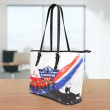 Load image into Gallery viewer, WA Veteran Large Leather Tote Bag
