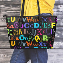 Load image into Gallery viewer, I Teach Small Leather Tote Bag