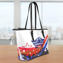 Load image into Gallery viewer, WA Veteran Small Leather Tote Bag