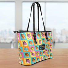 Load image into Gallery viewer, Bulldog Small Leather Tote Bag