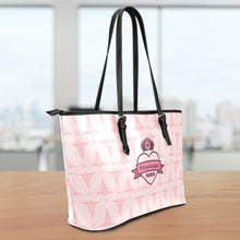 Load image into Gallery viewer, MS Nurse Pink Small Leather Tote Bag
