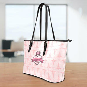 MS Nurse Pink Small Leather Tote Bag