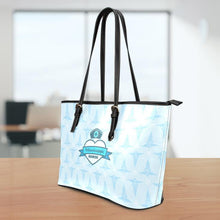 Load image into Gallery viewer, MS Nurse Blue Small Leather Tote Bag