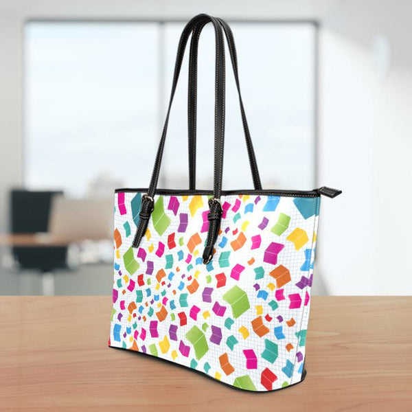 Books Small Leather Tote Bag