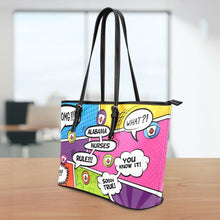 Load image into Gallery viewer, AL Comic Nurse Small Leather Tote Bag