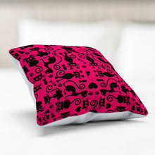 Load image into Gallery viewer, Cats Pink Pillowcase