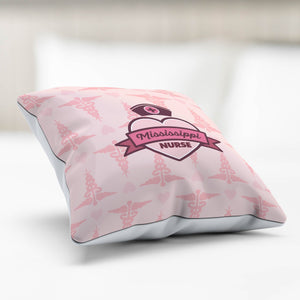 MS Nurse Pink Pillowcase