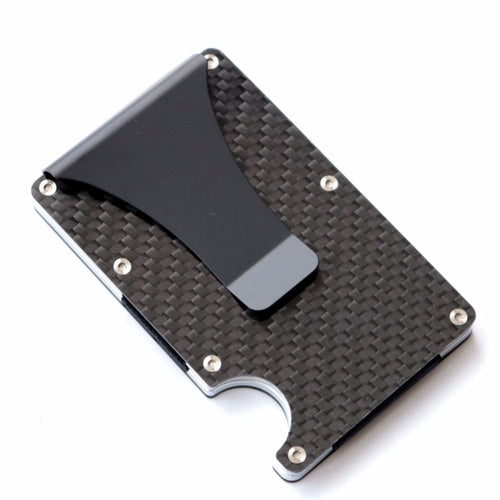 Carbon Fiber Wallet With RFID Blocking For Men