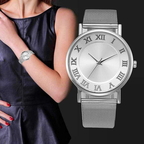Ladies Luxury Watch Stainless Steel Wristwatch Fashion  #816