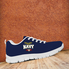 Load image into Gallery viewer, Navy Running Shoes