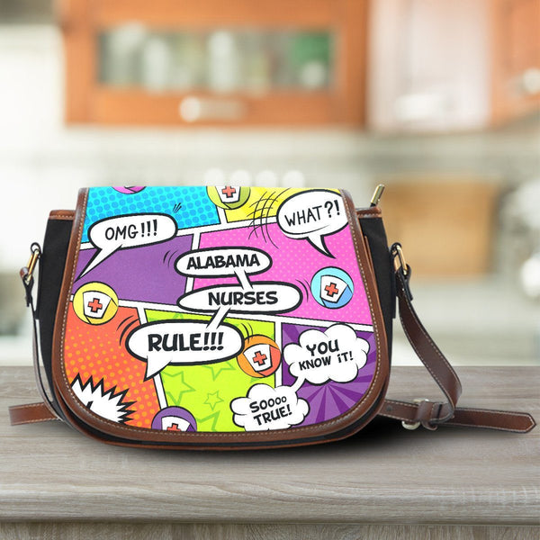 AL Comic Nurse Saddle Bag