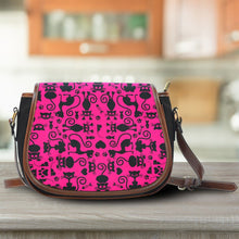 Load image into Gallery viewer, Cats Pink Saddle Bag