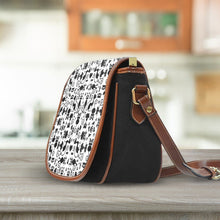 Load image into Gallery viewer, Cats White Saddle Bag