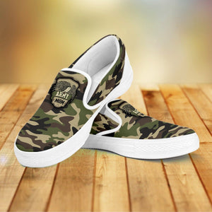 Camouflage Slip Ons