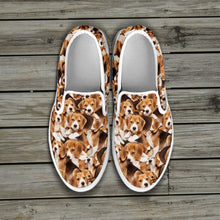 Load image into Gallery viewer, Beagles Slip Ons Women
