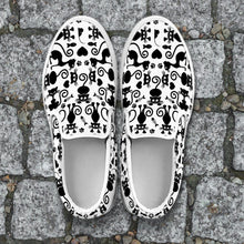 Load image into Gallery viewer, Cats White Slip Ons