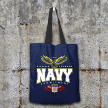 Load image into Gallery viewer, Navy Tote Bag