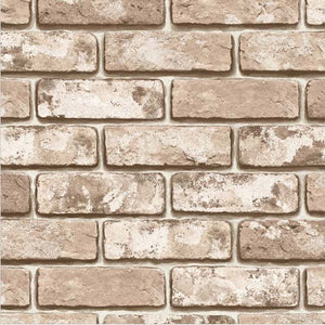 Vintage Shabby Brick Pattern Self-adhesive Peel-stick Wallpaper