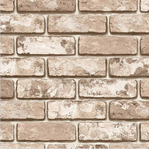 Vintage Shabby Brick Pattern Contact Paper Self-adhesive Peel-stick Wallpaper