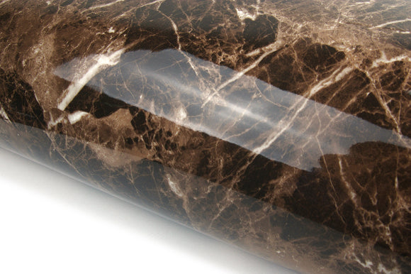 Marble Look Contact Paper Film Brown High Glossy Granite Effect Vinyl Self Adhesive Peel-stick Brown Counter Top