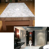 Grey White Marble Granite Look Effect Contact Paper Film Vinyl Self Adhesive Peel-stick Counter Top