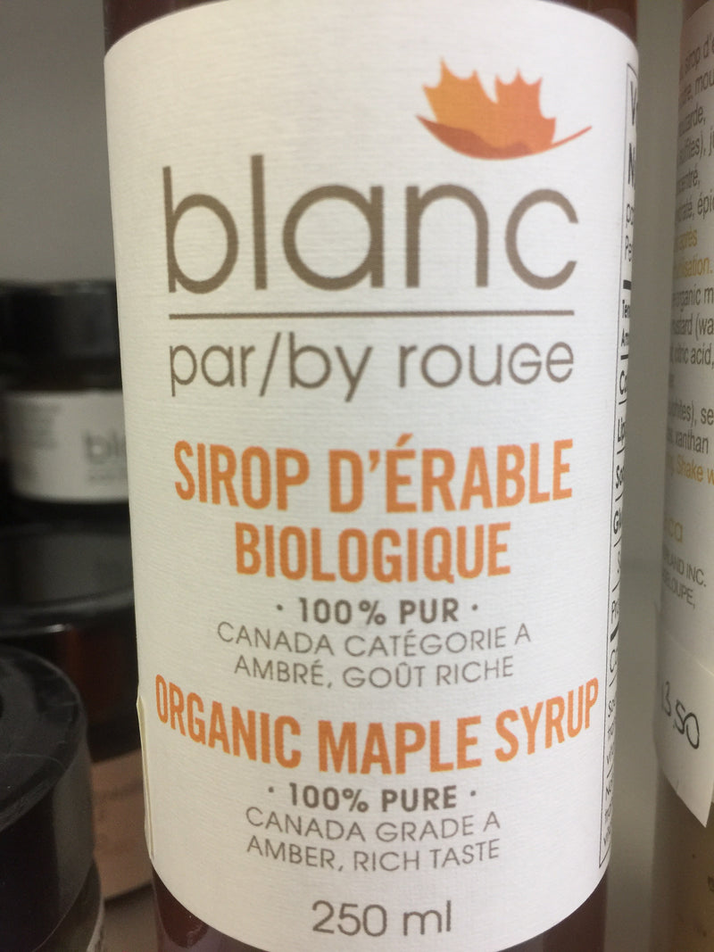 Organic Maple Syrup 100% pure