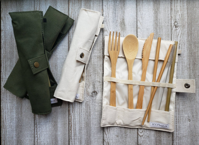 Cutlery set in a nice arranged fabric from SOOP