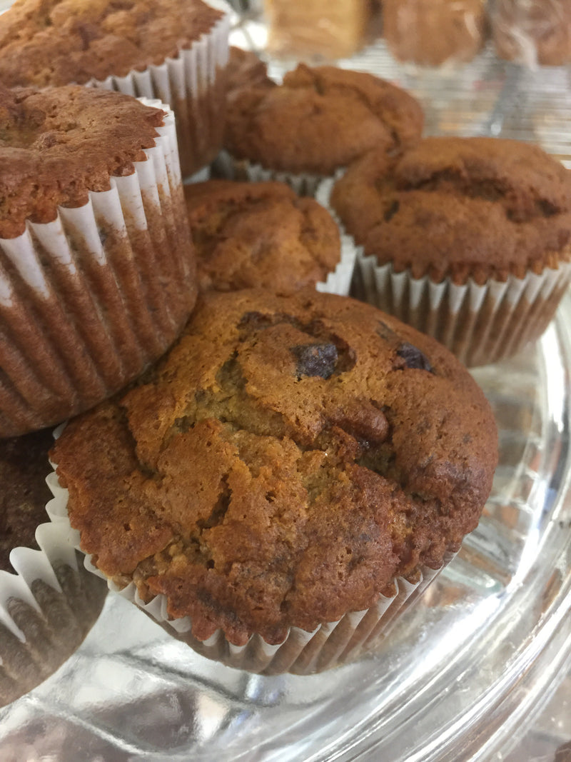 Banana muffin w/chocolate (6)