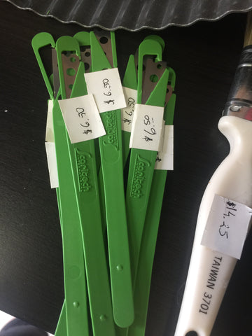 Green Scoring Knife