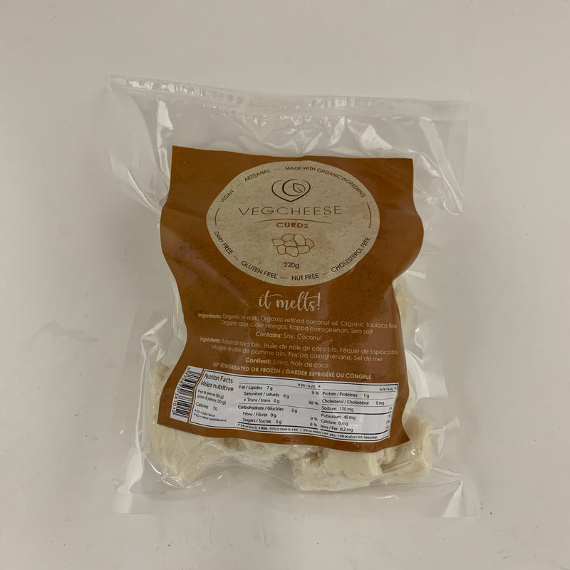 Cheese Curds vegan from Vegcheese 220gr