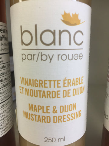 Maple & dijon mustard dressing