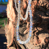 Moonstone Blue Flash Necklace for Youthfulness.